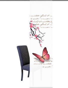 Home Fashion Butterflies 60x245cm fuchsia