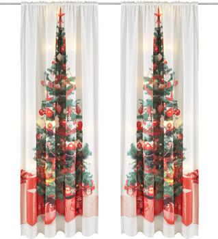 my home LED-Tannenbaum 140x230cm burgund