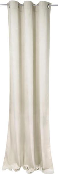 Tom Tailor French Velvet mit Ösen 130x245cm ecru