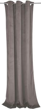Tom Tailor French Velvet mit Ösen 130x245cm schlamm