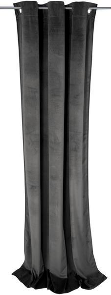 Tom Tailor French Velvet mit Ösen 130x245cm grau