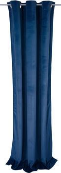 Tom Tailor French Velvet mit Ösen 130x245cm blau