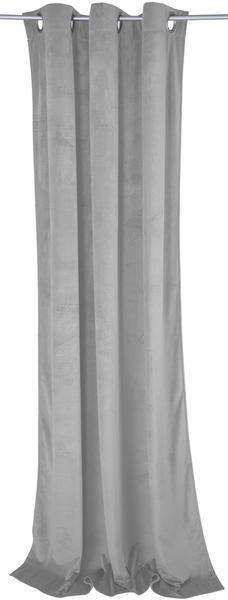 Tom Tailor French Velvet mit Ösen 130x245cm hellgrau