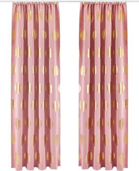 my home Verdunkelungsvorhang Kreise (1 Stück) rosé-goldfarben