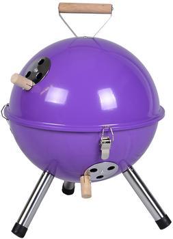 DILEGO Holzkohlegrill Mini BBQ Grill lila