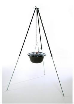 acerto Holzkohlegrill ungarisches Dreibein 1,20 m mit Gulaschkessel 10 l