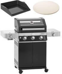 Rösle Videro G3-S Vario+ + Plancha-Grillplatte + Pizzastein Vario