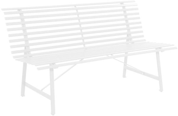 Leco Stahl-Gartenbank 150cm elfenbein