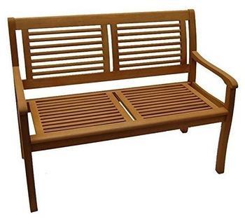 CASAYA Bank Paolo 2-Sitzer Holz-Eukalyptus