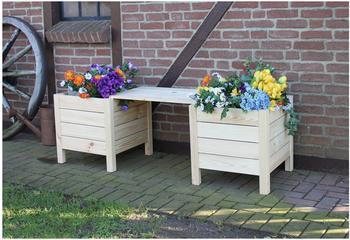 Promadino Blumenbank mit Blumenkästen