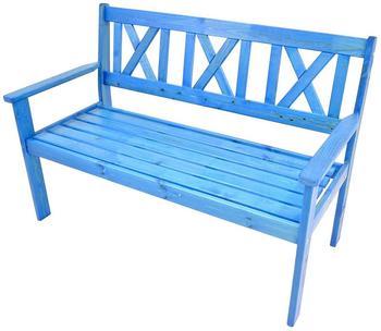 Lesli Living Bank 129cm blau (42293)