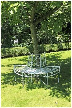 Garden Pleasure Varda Bank Stahl weiß (950396)
