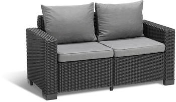 Allibert California Loungesofa 2-Sitzer anthrazit Panama cool grey