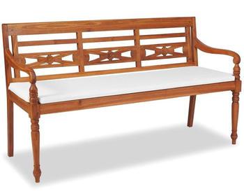 vidaXL Batavia Teak 3 seats with pillow 150 cm