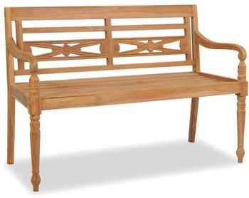 vidaXL Batavia Teak 2 seats 120 cm