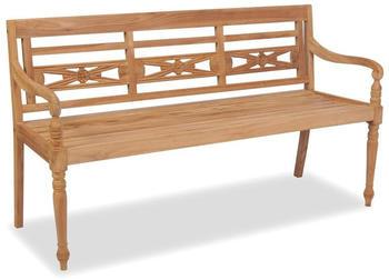 vidaXL Batavia Teak 3 seats 150 cm