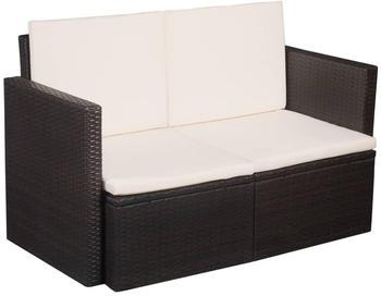 vidaXL 2-Sitzer-Gartensofa mit Auflagen (44178)
