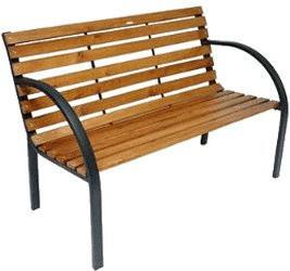 Dema Modern 2-Sitzer (Eisen-Holz)