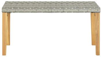 vidaXL Garden Bench in Braided Resin Light Grey