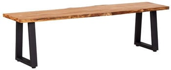 vidaXL Natural Bench in Oak Wood 160 cm