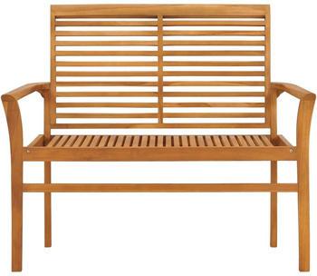 vidaXL Garden Bench in Teak Wood 112 cm