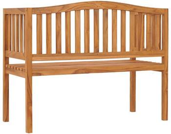 vidaXL Garden Bench in Teak Wood 120 cm