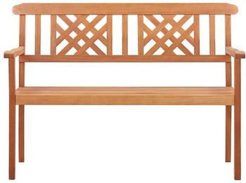 vidaXL Garden Bench in Eucalyptus Wood 120 cm