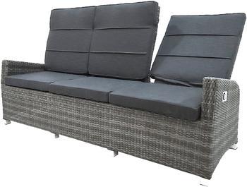 Ploß Vigo Comfort Loungesofa 3- Sitzer grau