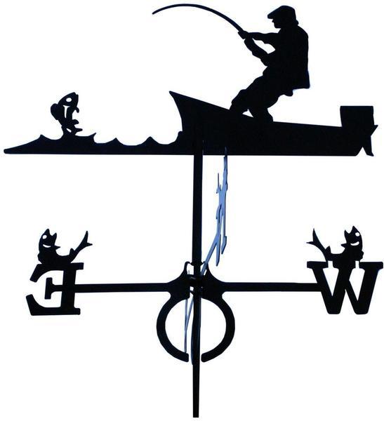SvenskaV Wetterfahne Angler groß (4125)