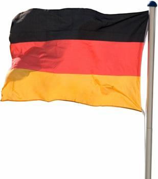 Maxstore Alu-Fahnenmast 6,50m + Deutschlandfahne 120 x 80cm