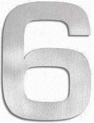 Blomus Signo Hausnummer: 6 (Edelstahl)