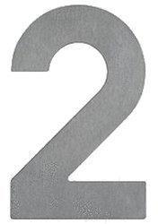 Albert Hausnummer 2 (Edelstahl)