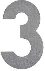 Albert Hausnummer 3 (Edelstahl)