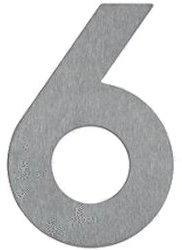 Albert Hausnummer 6 (Edelstahl)