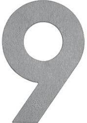 Albert Hausnummer 9 (Edelstahl)