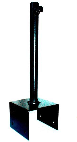 SvenskaV Pfostenschuh für Wetterfahnen 9 x 9 cm