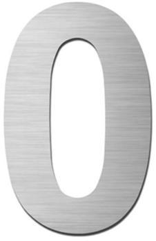 Serafini Hausnummer 0 (Edelstahl 15cm)