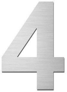Serafini Hausnummer 4 (Edelstahl 15cm)