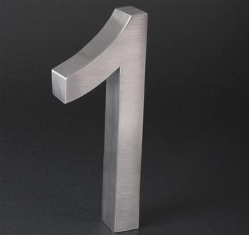 Elecsa 3D-Hausnummer: 1 (Edelstahl)