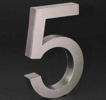 Elecsa 3D-Hausnummer: 5 (Edelstahl)