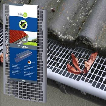 Easy Life Dachrinnenschutz witterungsbeständige Kunststoff-Profile