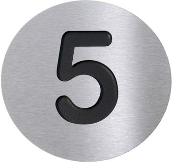 Radius Hausnummer 5 schwarz
