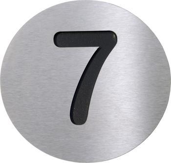 Radius Hausnummer 7 schwarz