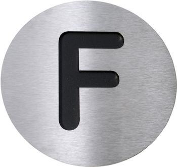 Radius Hausnummer F groß schwarz