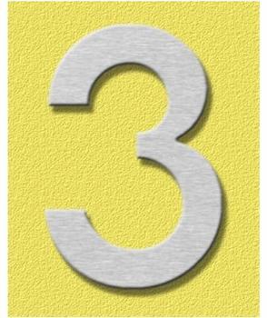 Heibi Midi Hausnummer 3 (Edelstahl)