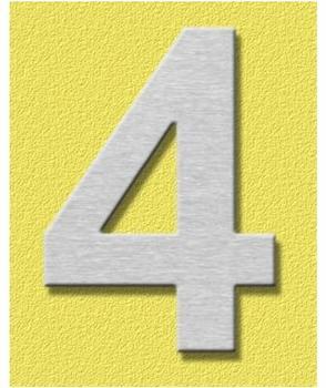 Heibi Midi Hausnummer 4 (Edelstahl)
