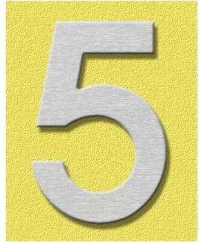 Heibi Midi Hausnummer 5 (Edelstahl)