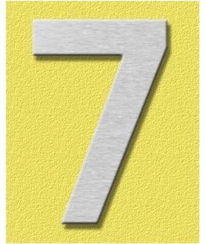 Heibi Midi Hausnummer 7 (Edelstahl)