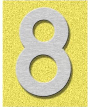 Heibi Midi Hausnummer 8 (Edelstahl)