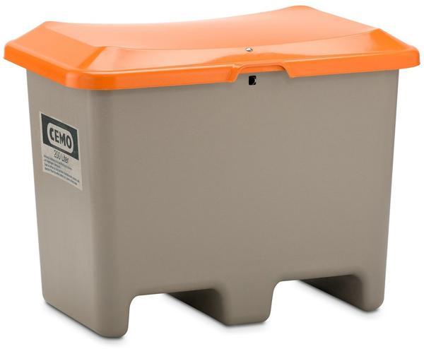 Cemo Plus 3 200 Liter grau orange (ohne Entnahmeöffnung, mit Staplertasche)